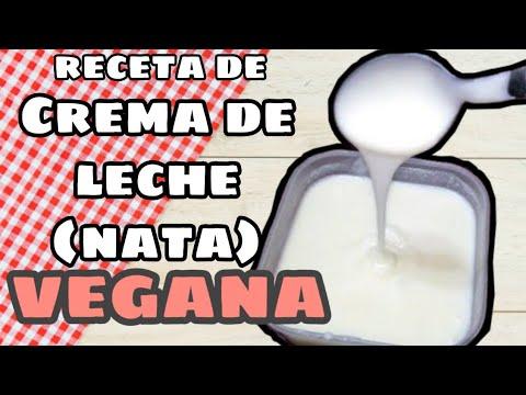 Crema de leche vegana-receta