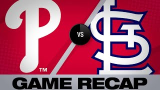 5/6/19: Cards smack 3 homers and blank the Phillies