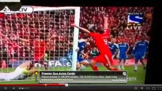 andy carrolls denied goal against chelsea FA cup final 2-1