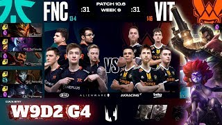 Fnatic vs Vitality | Week 9 Day 2 S10 LEC Spring 2020 | FNC vs VIT W9D2