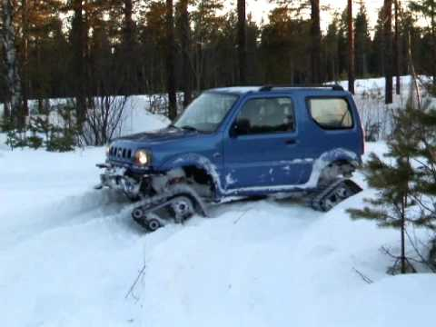 More of the Swedish snowgoing Suzuki Jimny - YouTube