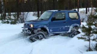 More of the Swedish snowgoing Suzuki Jimny