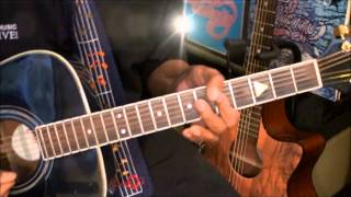 Chicago 25 Or 6 To 4 How To Play On Acoustic Guitar Lesson EricBlackmonMusicHD Resimi