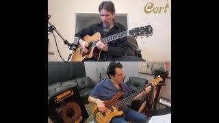 Bumblefoot & Jeff Berlin [30-second acoustic fusion jam]