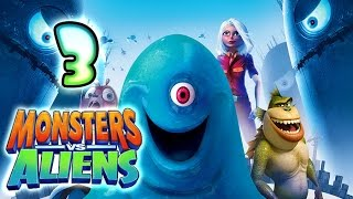 Monsters VS Aliens Walkthrough Part 3 (PS3, X360, Wii, PS2) ~ B.O.B. Level 3