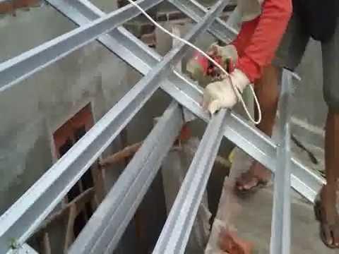 baja ringan plafon cara memasang reng galvalum - youtube