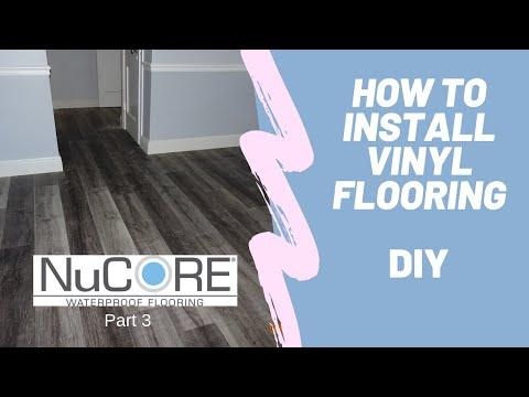 DIY Vinyl Flooring installation Waterproof Nucore Floor & Decor Floating floor installation  LVP
