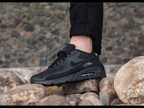 timeless design 84646 78025 Unboxing   On feet - 2018 Nike Air Max 90 - Ultra Essential - Black