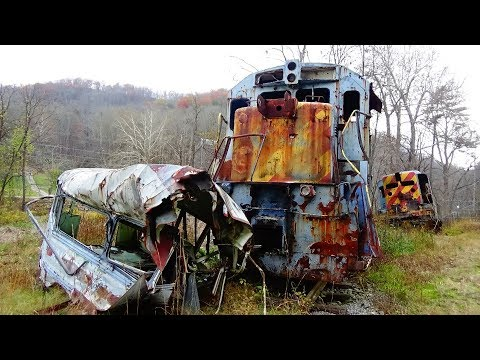 Abandoned Train Crash Remains from the film,