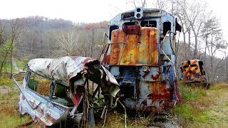 "Abandoned Train Crash Remains from the film, ""The Fugitive""(1993)"