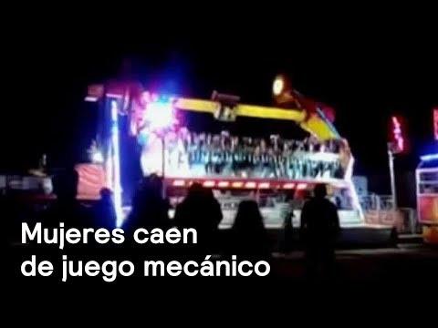 Mujeres caen de juego mecánico en la Feria de Pénjamo, en Guanajuato - Las Noticias con Danielle
