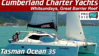 Whitsunday bareboats Whitsundays Tasman Oceans 35 Sailing Catamaran  Serendipity