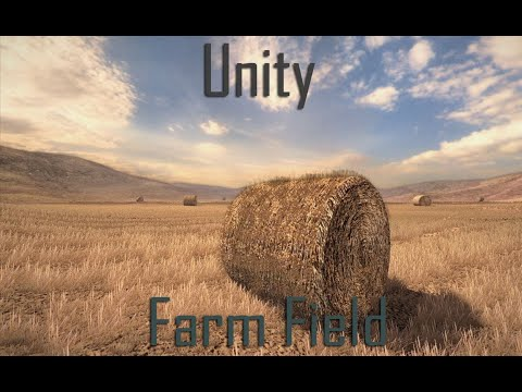 Unity+Sketchup Level Design: farm field with hay bales
