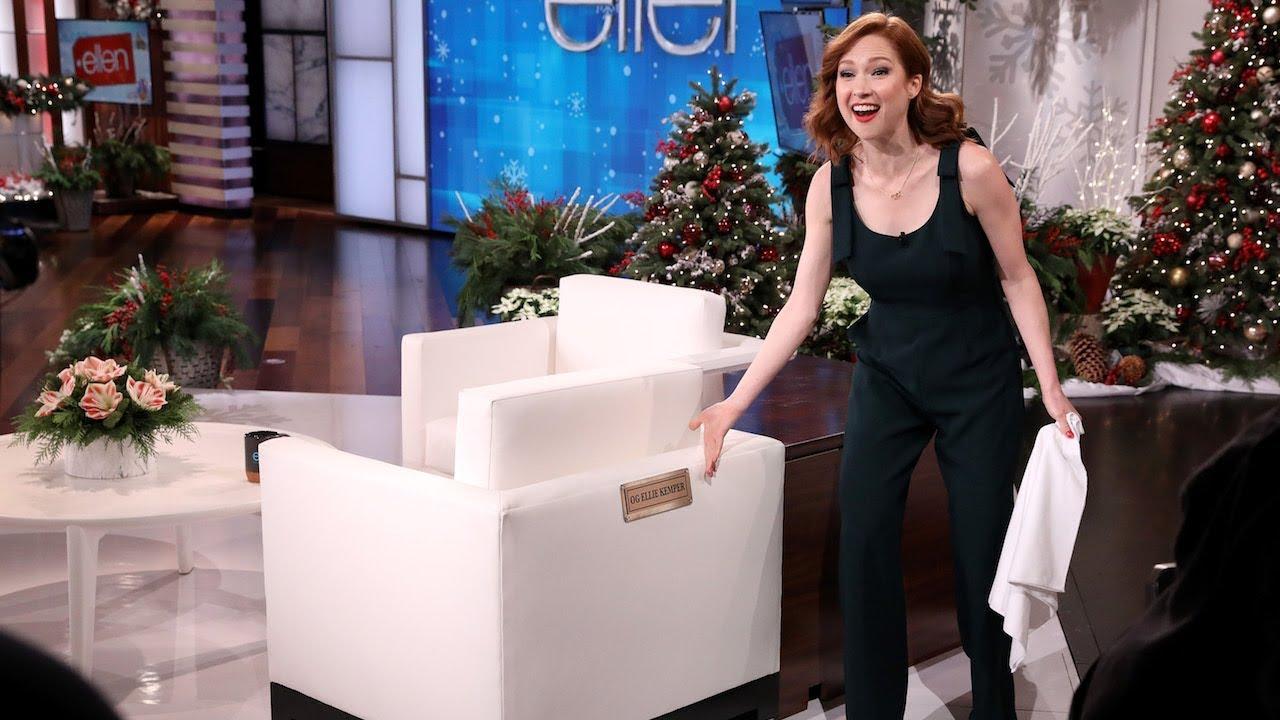 Ellie Kemper Isn't Falling for Ellen's Scares