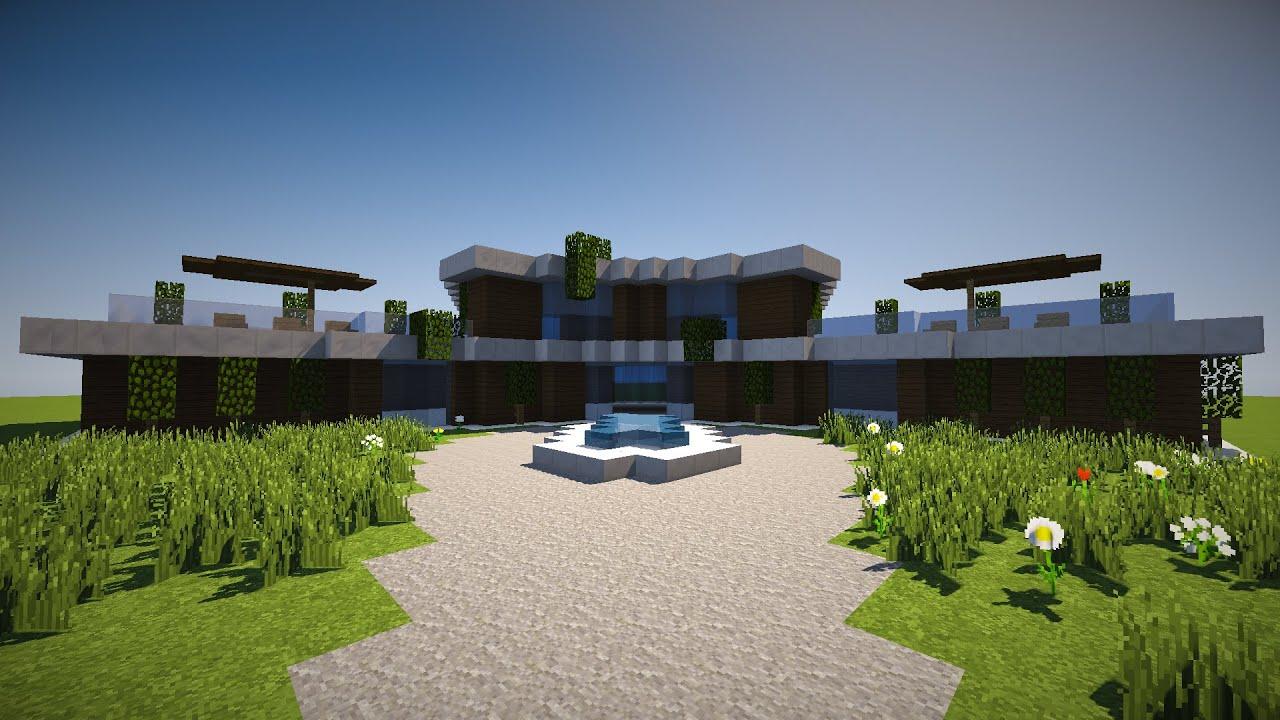 Tuto 12 Maison Moderne Sur Minecraft Youtube
