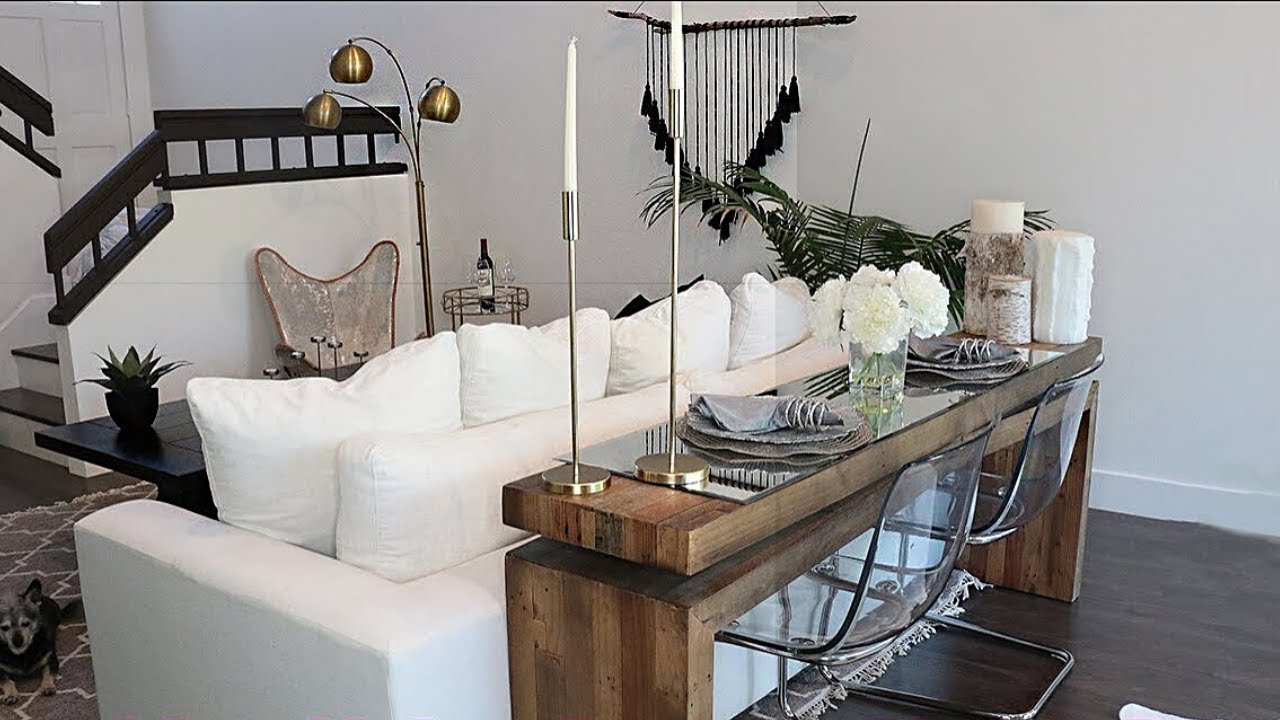 How To Combine Living Room And Dining Room In A Small Space Youtube