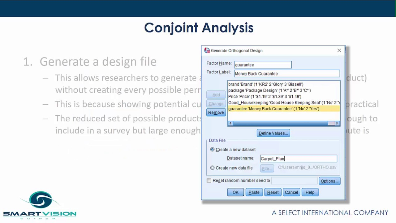 IBM SPSS Conjoint authorised user perpetual license