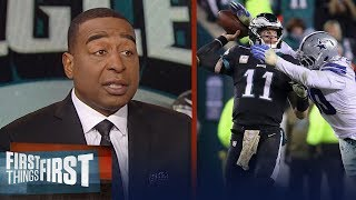 Nick and Cris react to the Eagles' loss against the Cowboys | NFL | FIRST THINGS FIRST
