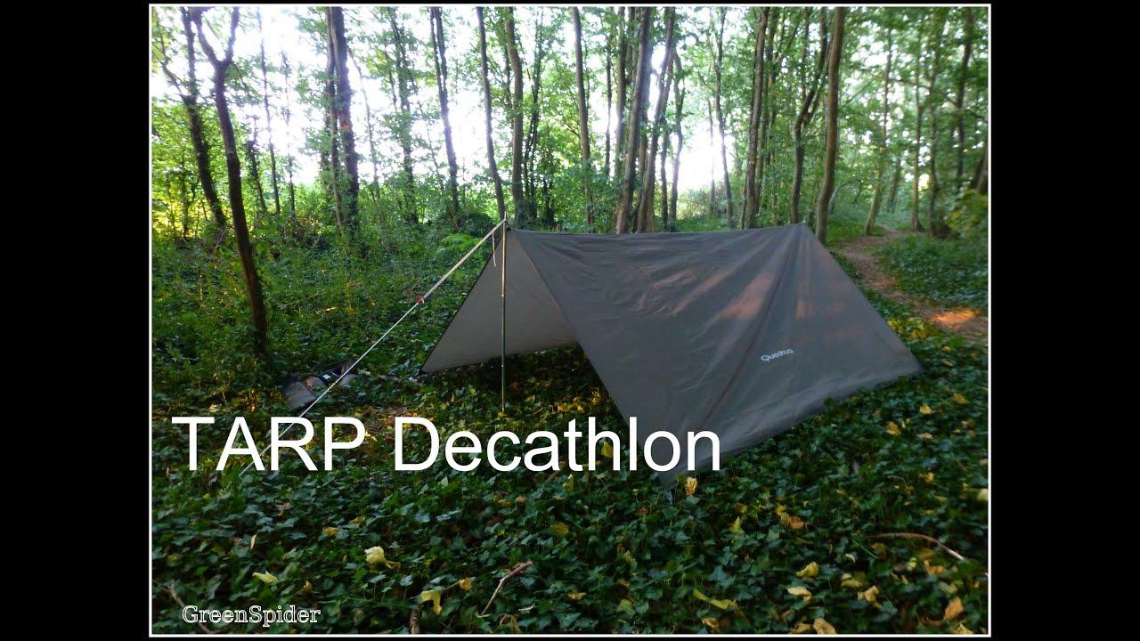 Protection pour la verte tarp et b che camo decathlon - Toile d ombrage pour terrasse ...
