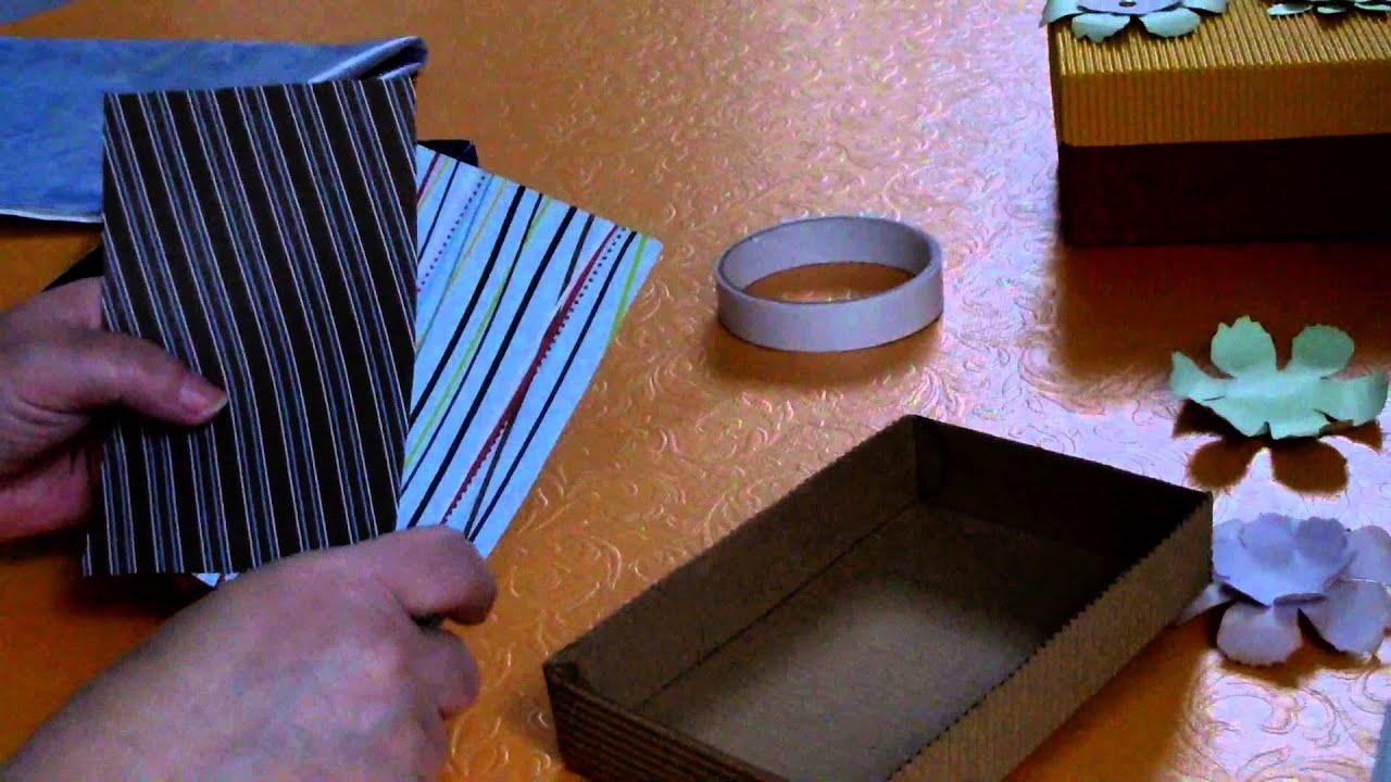tutorial schachtel basteln aus wellpappe youtube. Black Bedroom Furniture Sets. Home Design Ideas