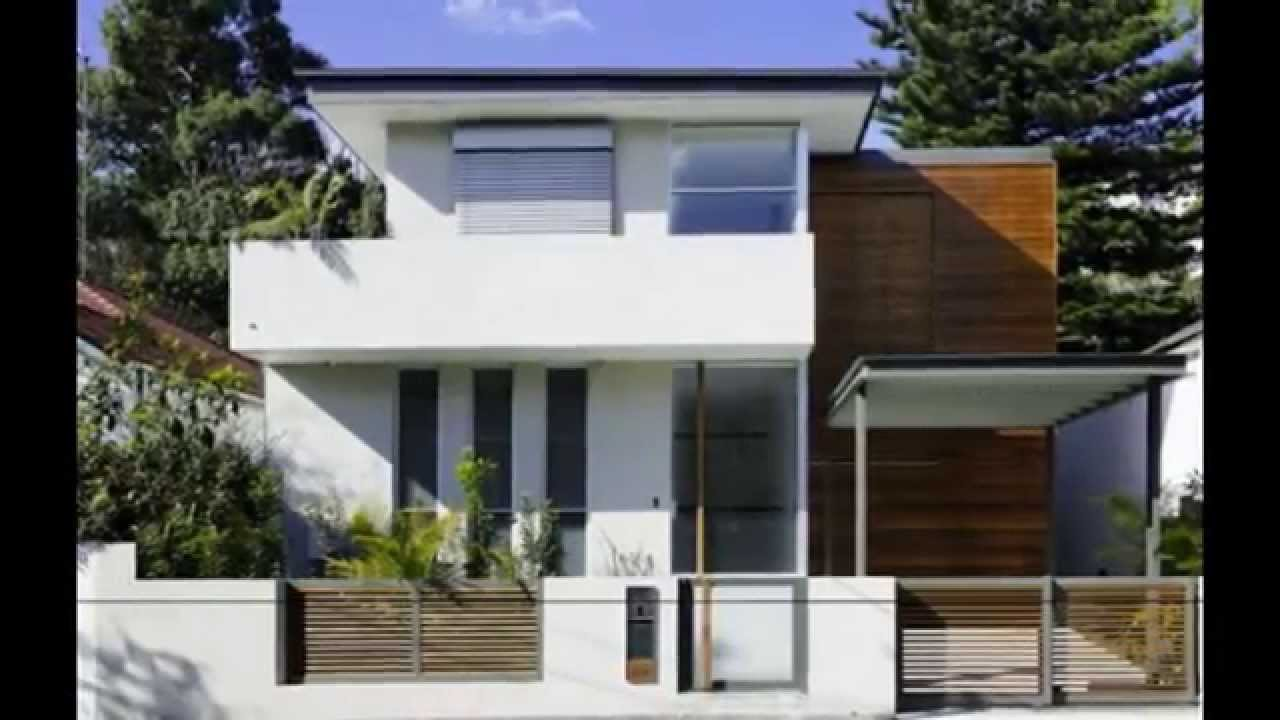 Modern small house plans small house plans modern youtube for Modern a frame house