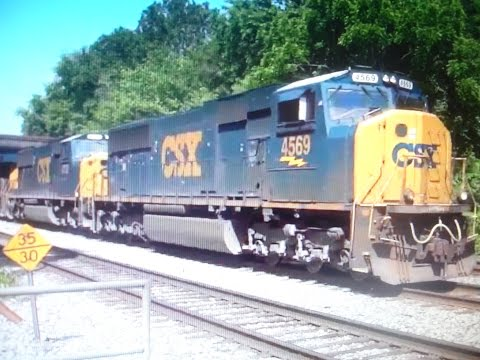 Over An Hour & A Half Of CSX Trains