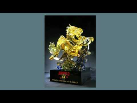 Good quality crystal trophies