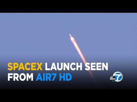 SpaceX Falcon 9 rocket launch as seen from AIR7 HD | ABC7
