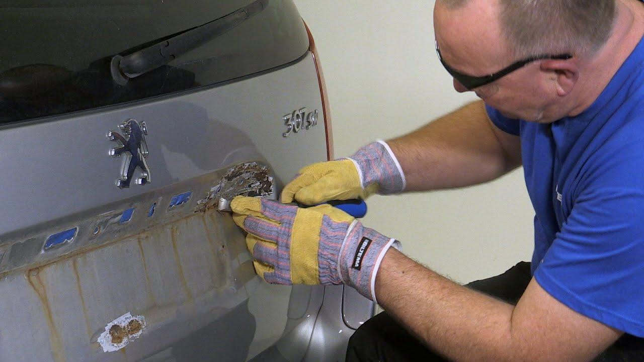 hvordan fjerne rust på bil