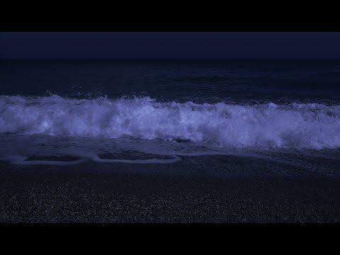 Fall Asleep with Powerful Waves at Night on Museddu Beach - Ocean Sounds for Deep Sleeping