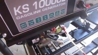 Як встановити і підключити АКБ на бензогенератор. Заходи безпеки
