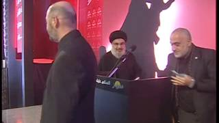 السيد حسن نصرالله الامين العام لحزب الله يظهر شخصياً في مجمع سيد الشهداء