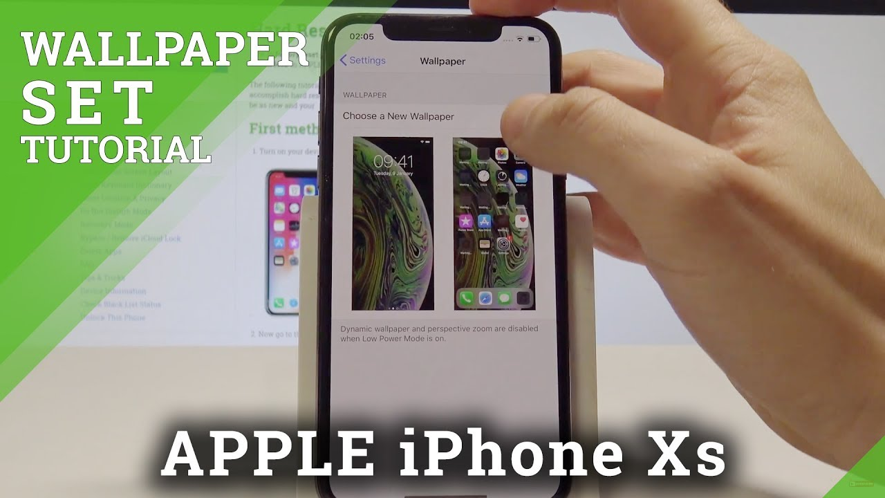 Iphone Xs Change Wallpaper Set Up Home Screen Lock Screen Wallpaper