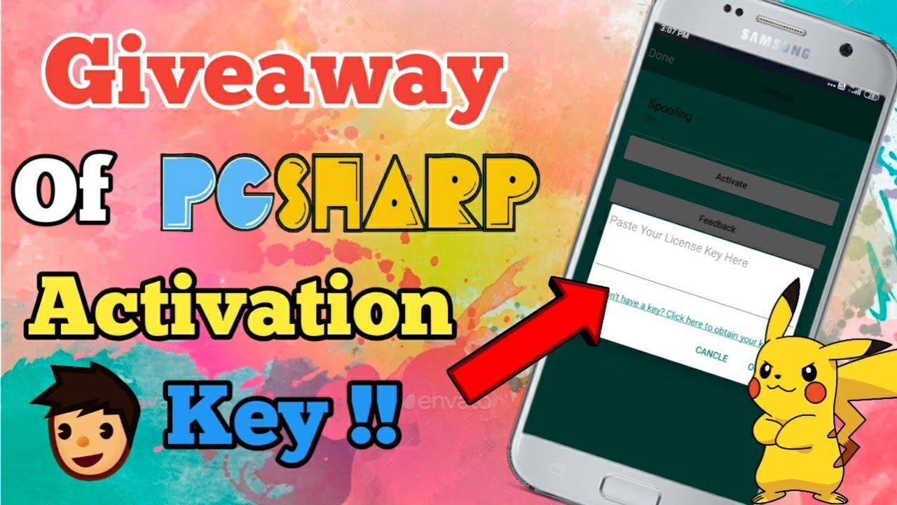 How to Get PGSharp Activation key | Giveaway of Activation ...