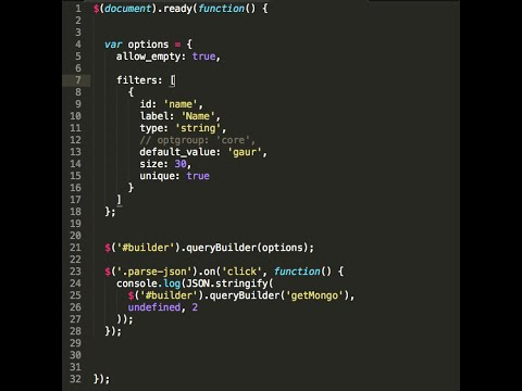Jquery query builder.