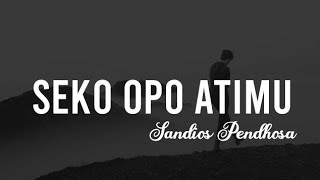Sandios Pendhoza - Seko Opo Atimu ( Official Lyric ) || by Audio Music