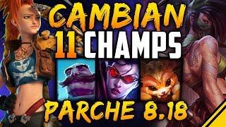 CAMBIAN 11 CAMPEONES y ODISEA - PARCHE 8.18   Noticias LoL