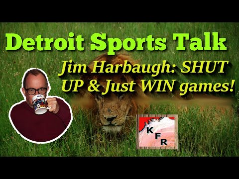 Jim Harbaugh and his WEAK response to reporters l Detroit sports