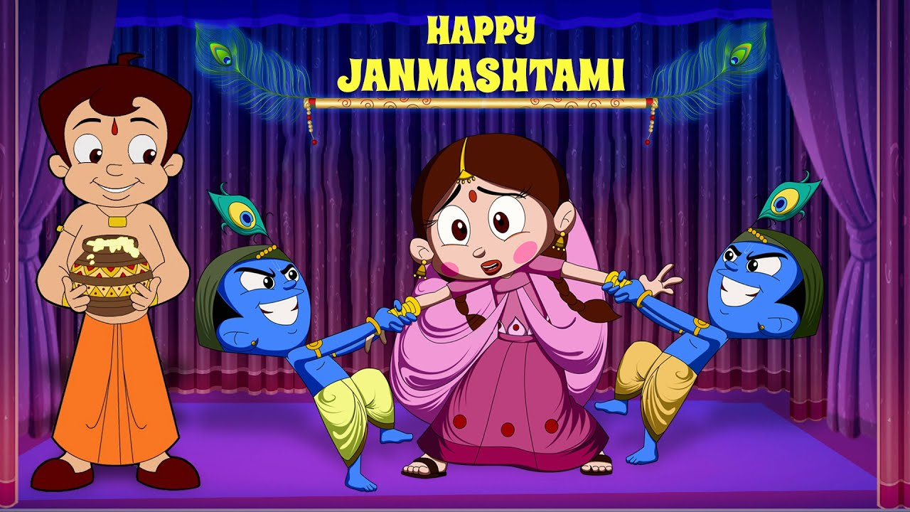 Chhota Bheem - Dholakpur Krishna Jamashtami Utsav | Janmashtami Special | Cartoon for Kids in Hindi
