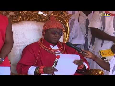 OBA OF BENIN PAYS THANK YOU VISIT TO ESAN LAND, EDO STATE
