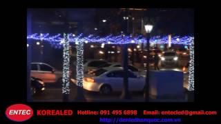 trang tria đô thị giá rẻ hà nội bằng đèn led dây