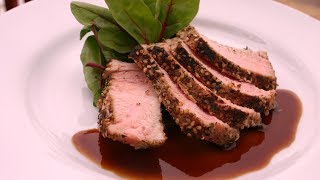 Sesame Seared Tuna with Apricot Ginger Butter Sauce