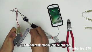How to make a DIY Handcrank Mobile Phone Charger