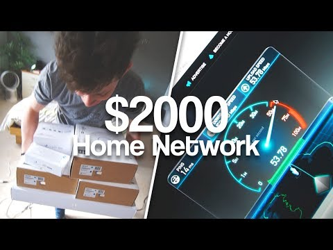 Alex's ULTIMATE Home Network Install | AC Access Points, POE Switches & NAS!
