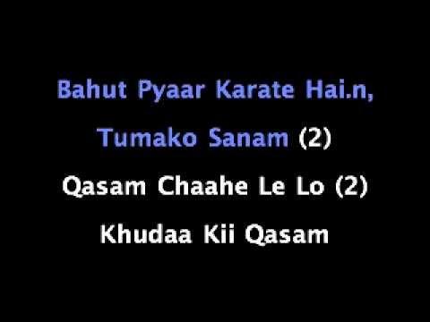 Bahut Pyar Karte Hai Karaoke .m4v