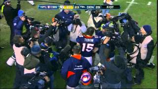 Tim Tebow throws a TD pass for OT win