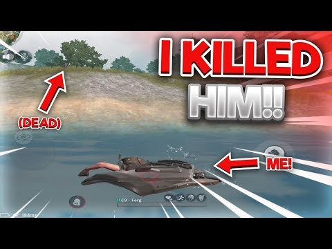 I SWAM ACROSS THE RIVER WHEN A TEAM WAS SHOOTING AT ME AND KILLED THEM IN RULES OF SURVIVAL!