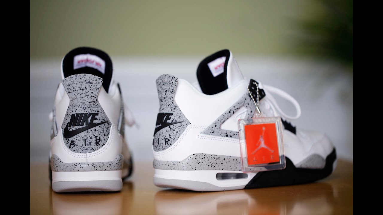 air jordan retro iv og cement 2015 videos