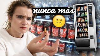 24 HORAS COMIENDO EN MÁQUINAS EXPENDEDORAS | Marina Yers