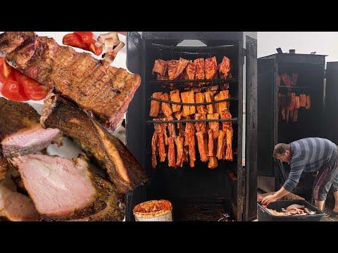 Smoking Meat in Smokehouse